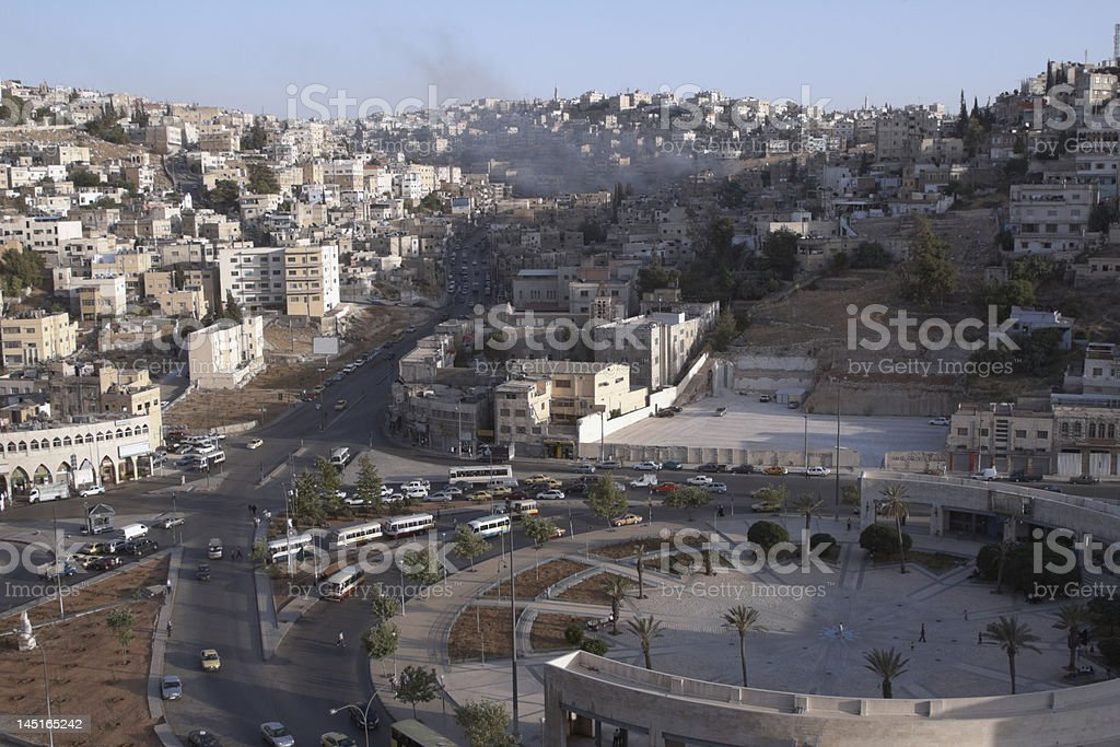 Amman Traffic Circle stock photo