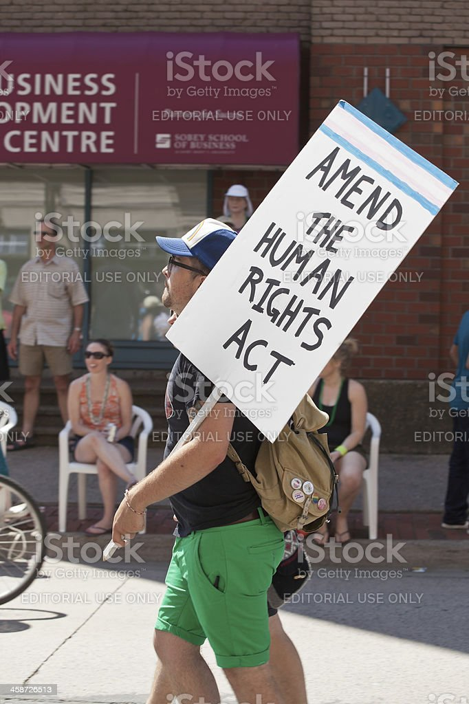 Ammend The Human Rights Act Protest Sign royalty-free stock photo