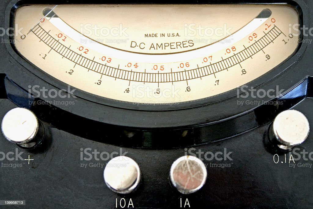 Ammeter close up royalty-free stock photo