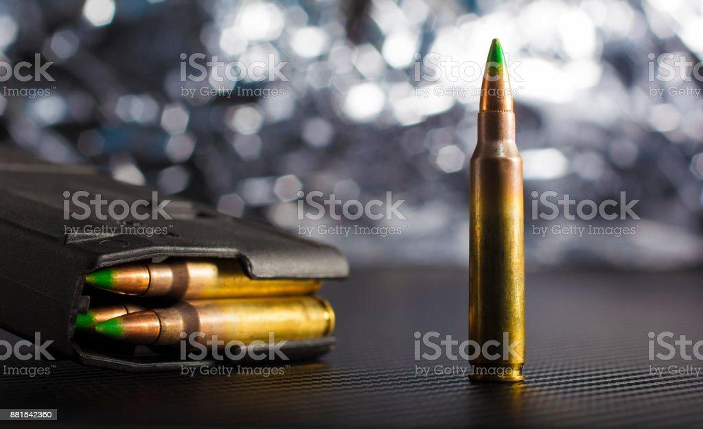Ammo and magazine stock photo