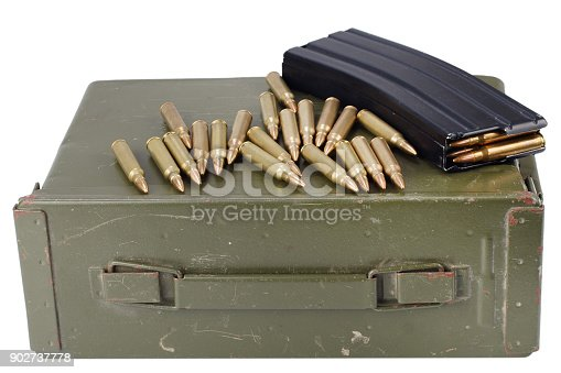 907208642 istock photo Ammo can with ammunition 902737778