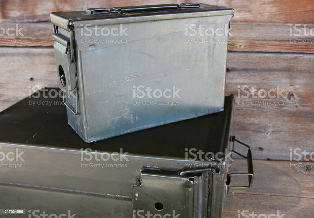Ammo Cans 3 stock photo