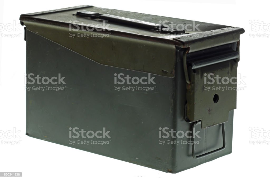Ammo Crate stock photo