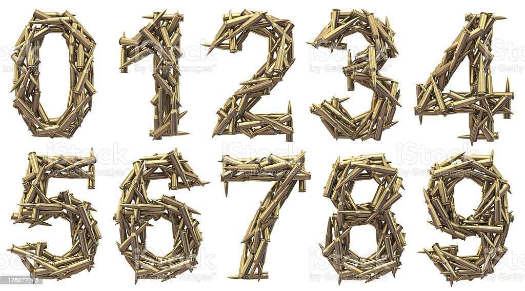 ammo number stock photo