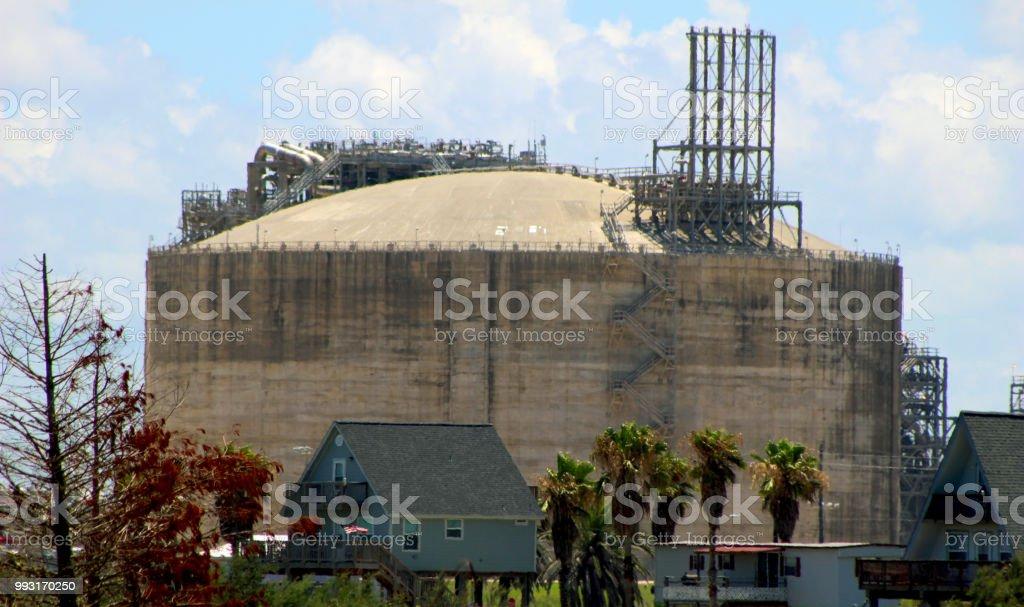 Ammonia Storage stock photo