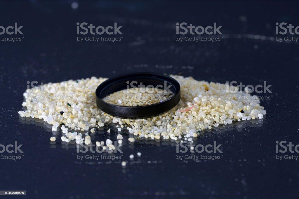 Ammonium ferrous sulfate, is a salt stock photo