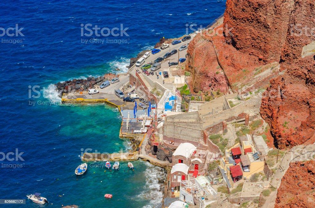 Ammoudi marina in Oia - Santorini stock photo
