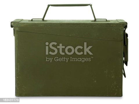 istock Ammunition Box Isolated on White 183431173