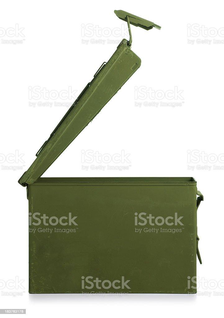 Ammunition Box Isolated on White stock photo