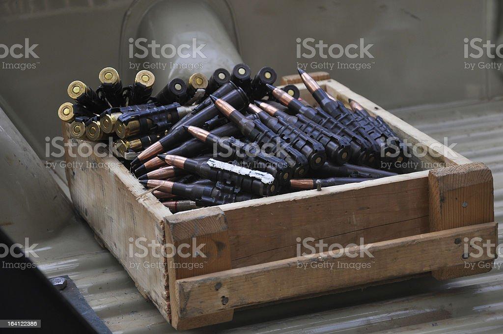 Ammunition box royalty-free stock photo