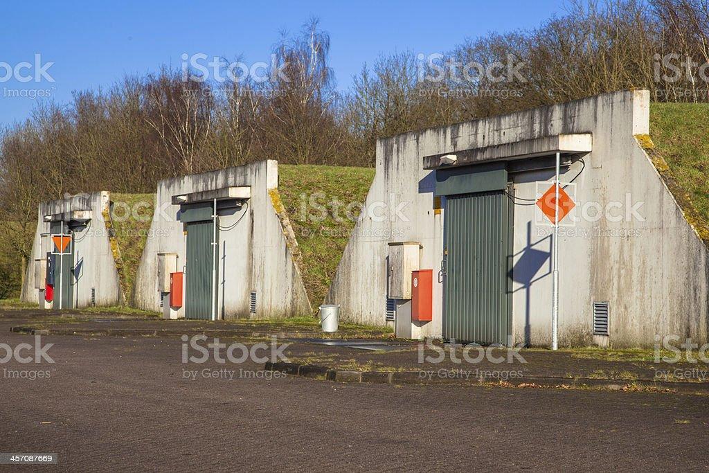 Ammunition Bunker stock photo