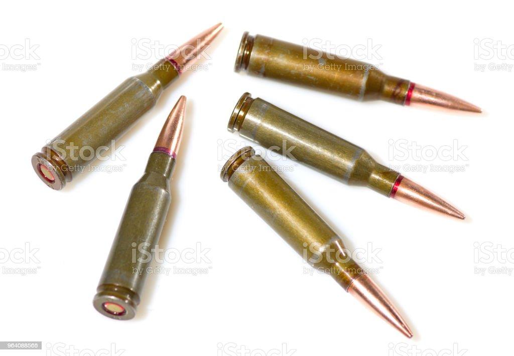 Ammunition cartridges on white - Royalty-free Ammunition Stock Photo