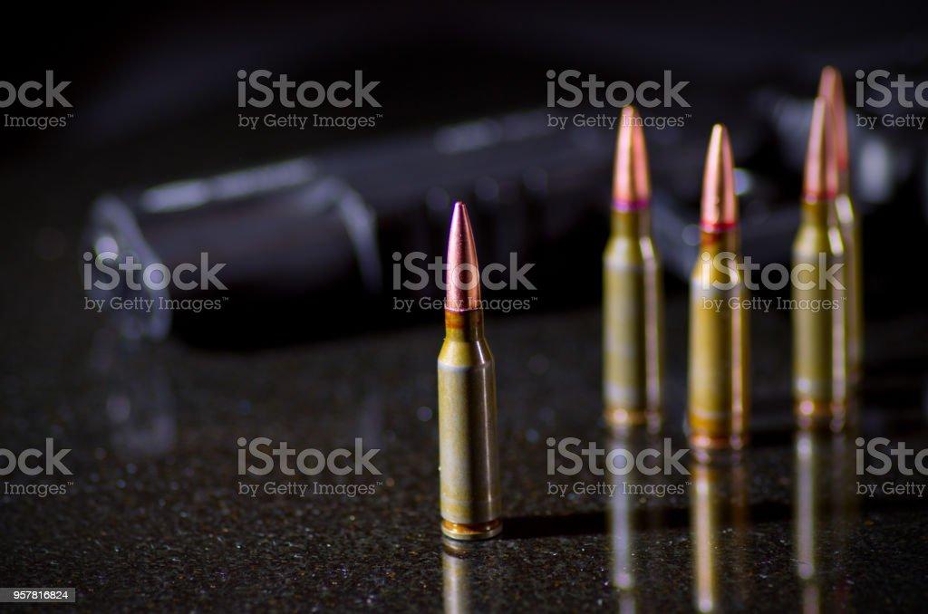 Ammunition cartridges stock photo