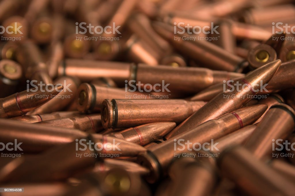 ammunition fo ak-47 stock photo