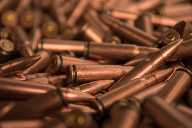 ammunition fo ak-47 stock photo