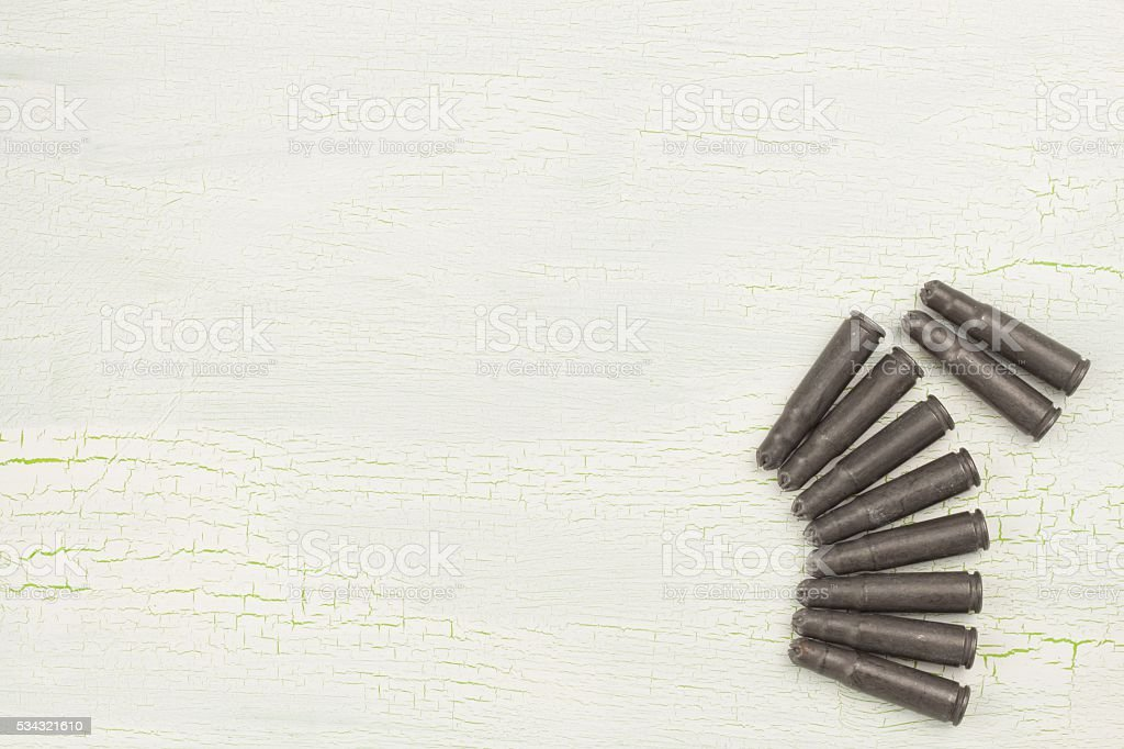 Ammunition for assault rifle AK-47 stock photo