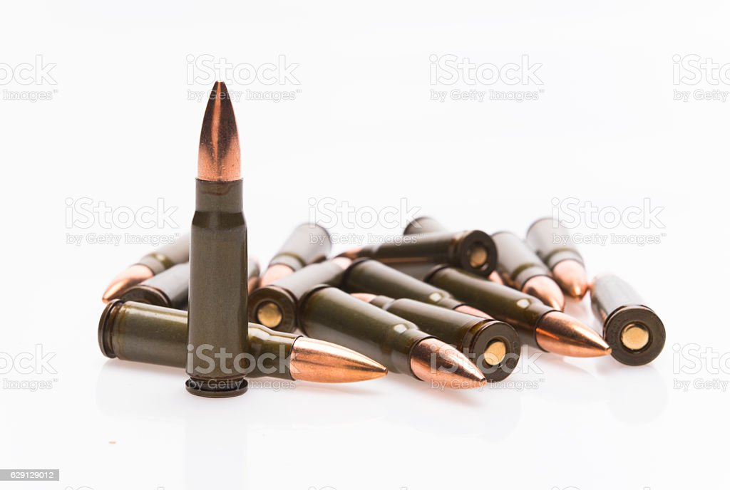 Ammunition Isolated stock photo