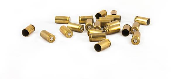 munizioni shell 9 mm. - proiettile foto e immagini stock
