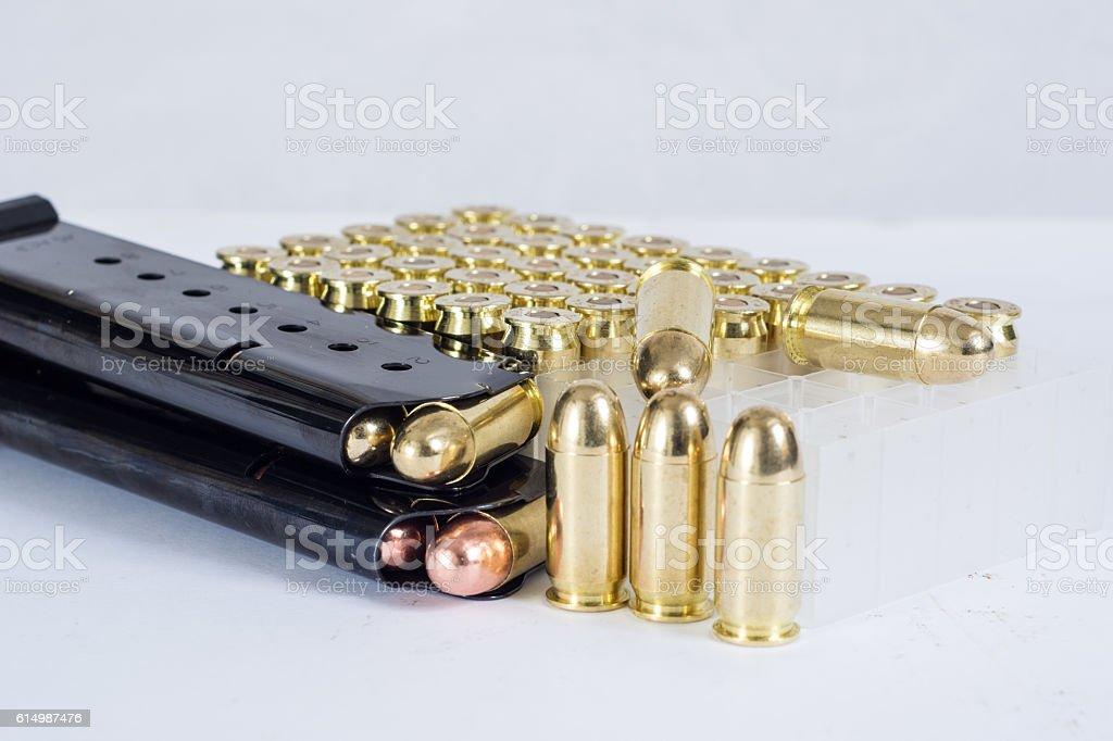 Ammuntion and magazines stock photo