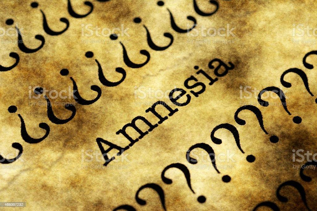 Amnesia concept royalty-free stock photo