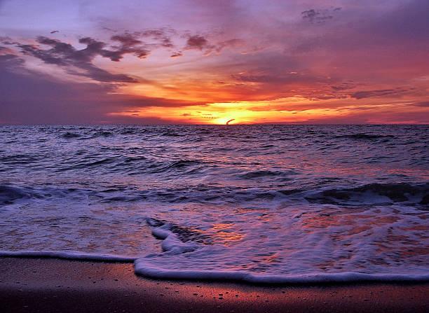Amorous Sunset stock photo
