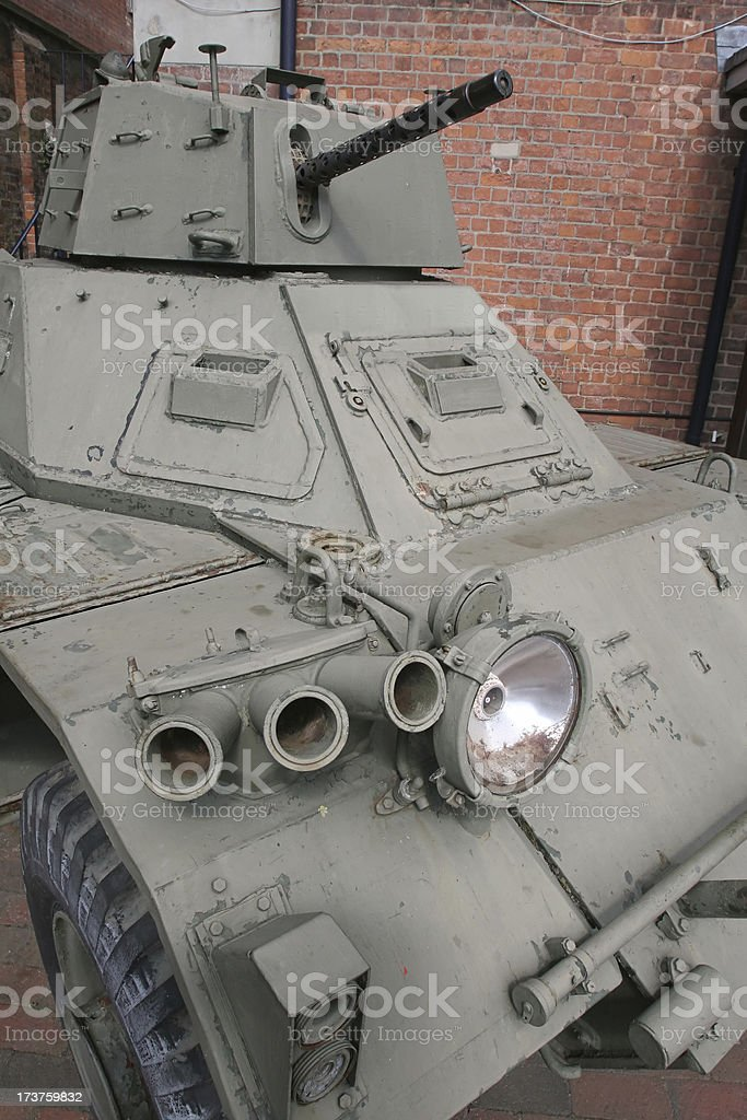 Amoured Car with Gun royalty-free stock photo