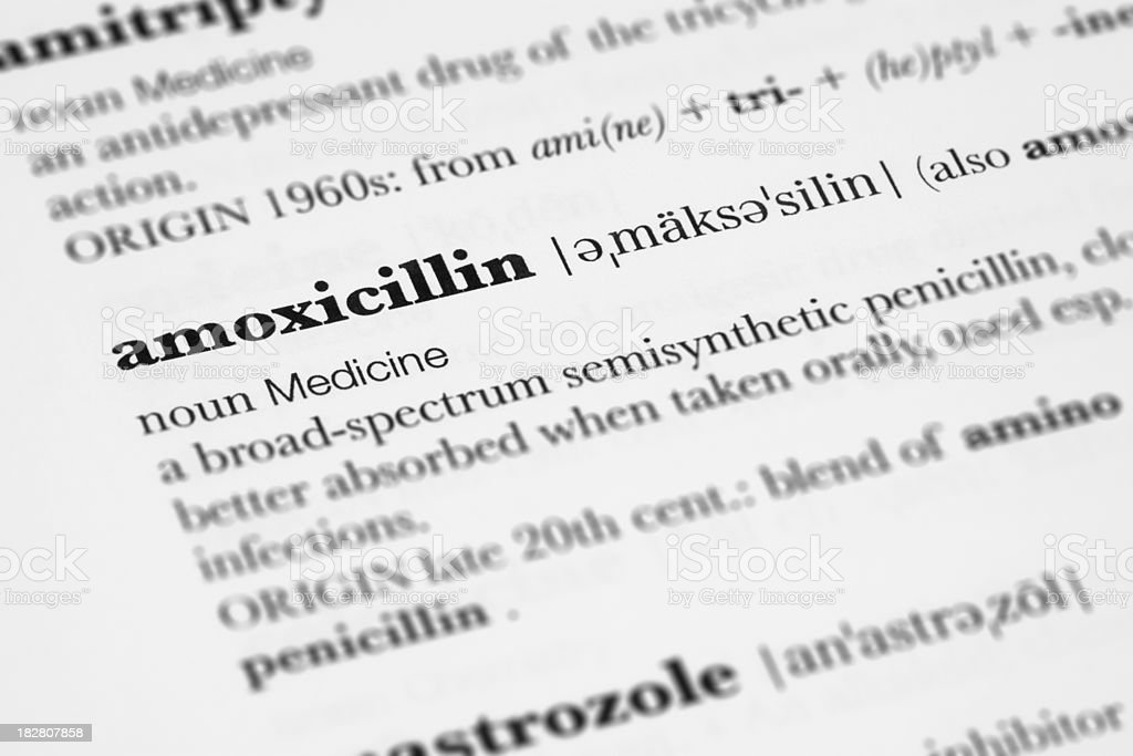 Amoxicillin Definition. royalty-free stock photo
