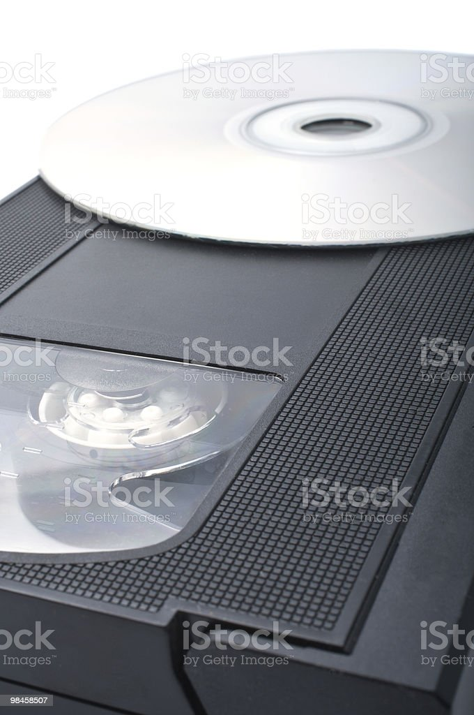 DVD & VHS royalty-free stock photo