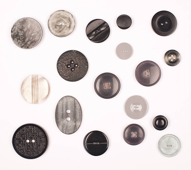 B & W Vintage Buttons stock photo