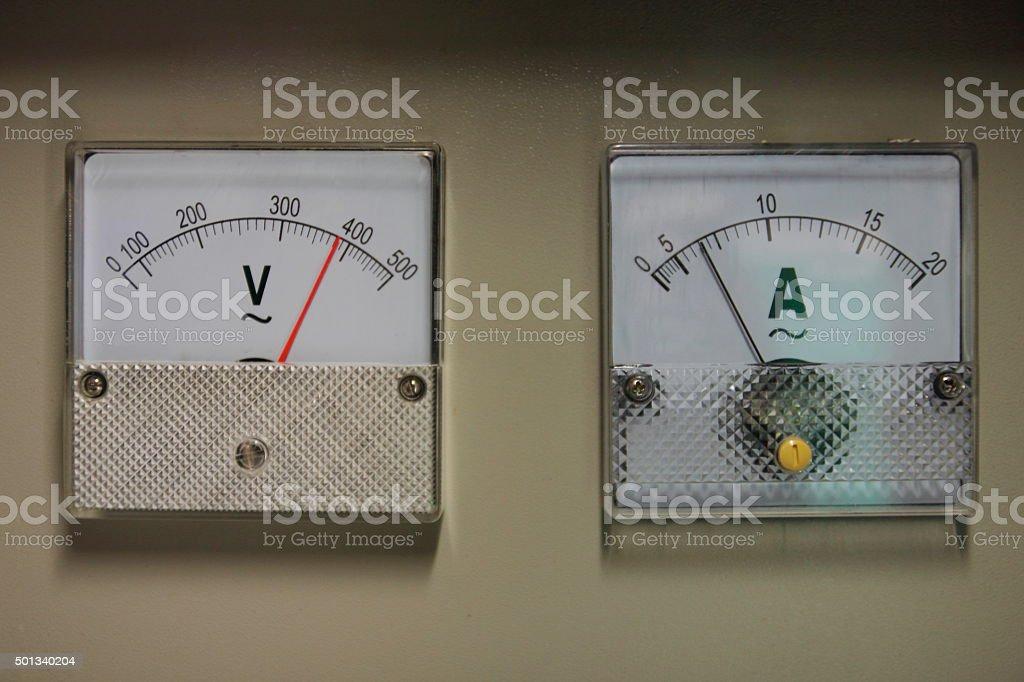 Ampermeter stock photo