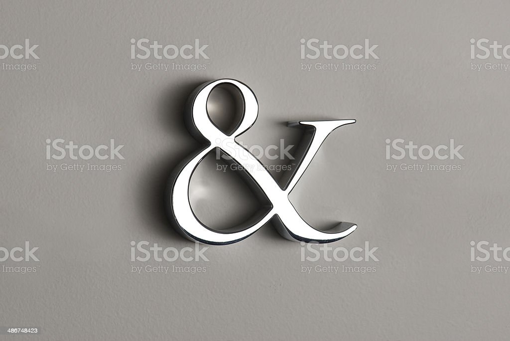 Ampersand 3D LEtter stock photo