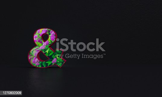 Set of letters with photo background. All images used in this work are my photos. Other letters and numbers in a similar style are in my portfolio.