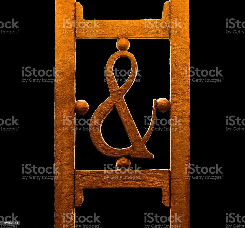Ampersand, et ligature of the Latin for 'and' stock photo