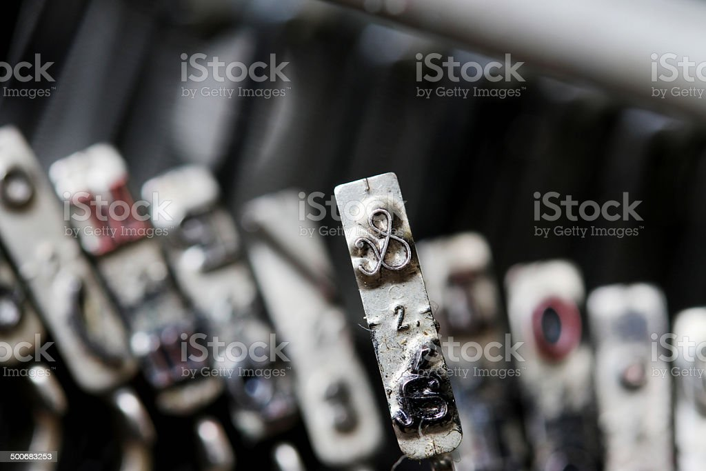 ampersand letter of a typewriter in an antique shop stock photo