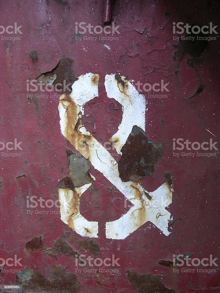 Ampersand on Metal royalty-free stock photo