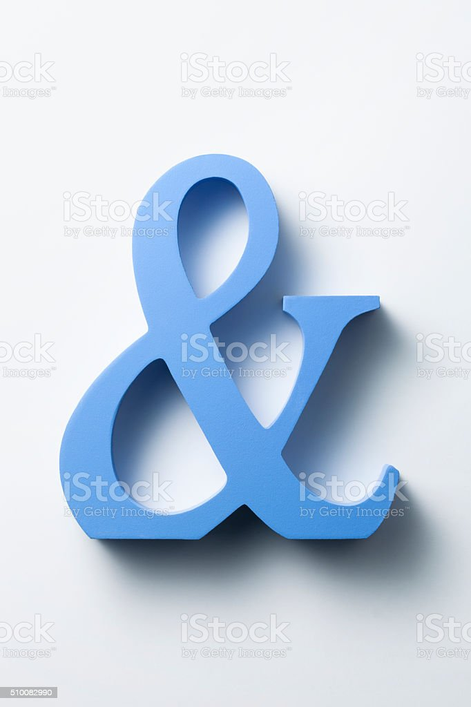 Ampersand stock photo