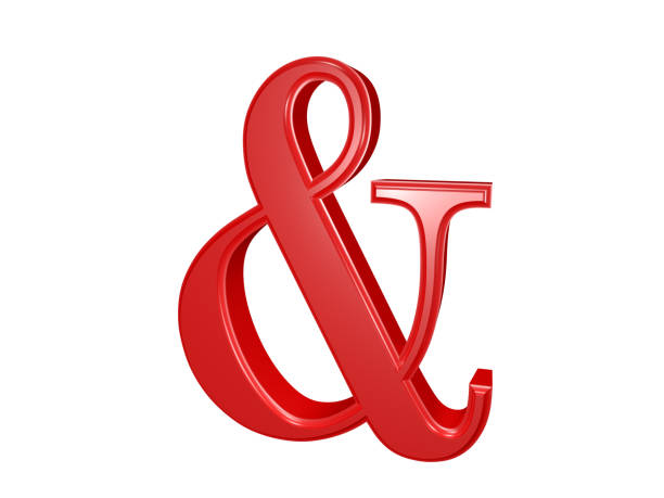 ampersand sign isolated on white - ampersand stock pictures, royalty-free photos & images
