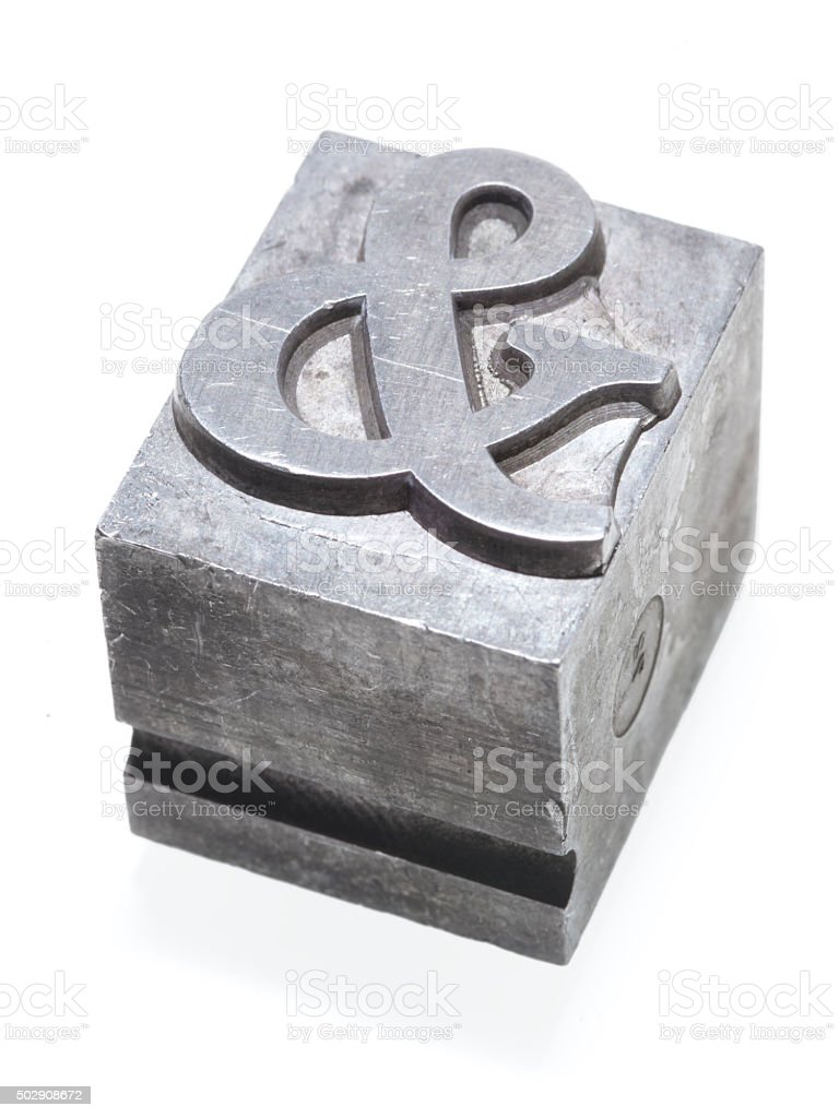 ampersand sign isolated stock photo