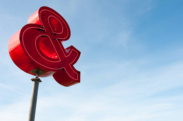 Ampersand sign stock photo