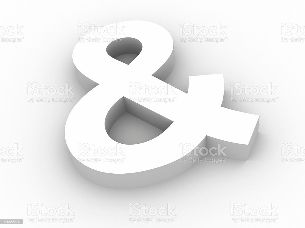 Ampersand symbol stock photo