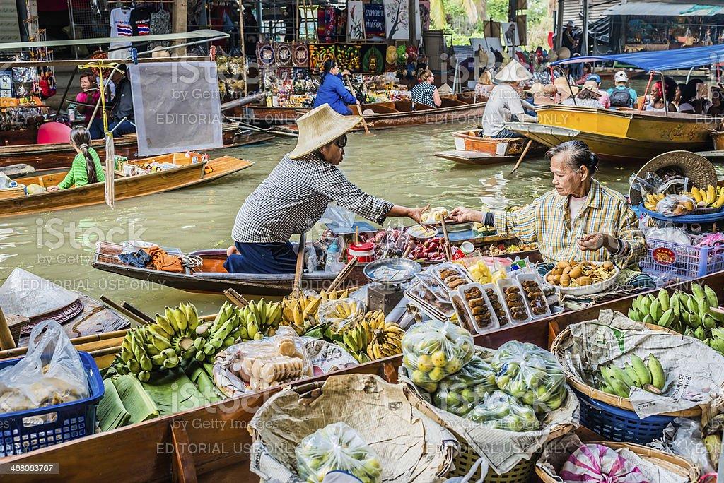 Amphawa bangkok floating market thailand stock photo