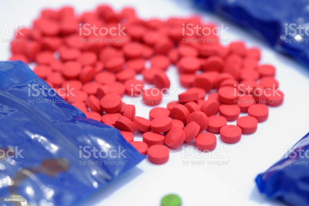 Píldoras de anfetamina - foto de stock
