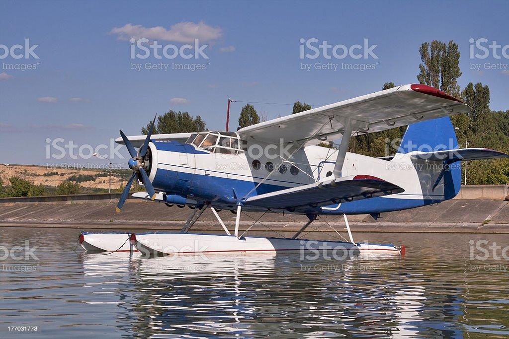 Amphibian plane stock photo