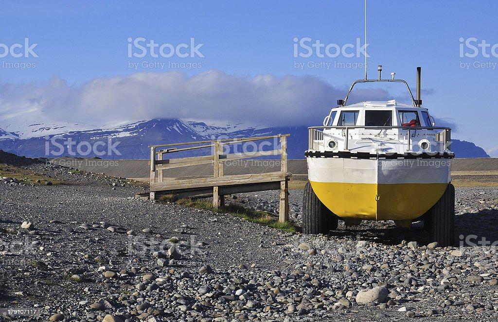 Amphibian Vehicle in Iceland stock photo