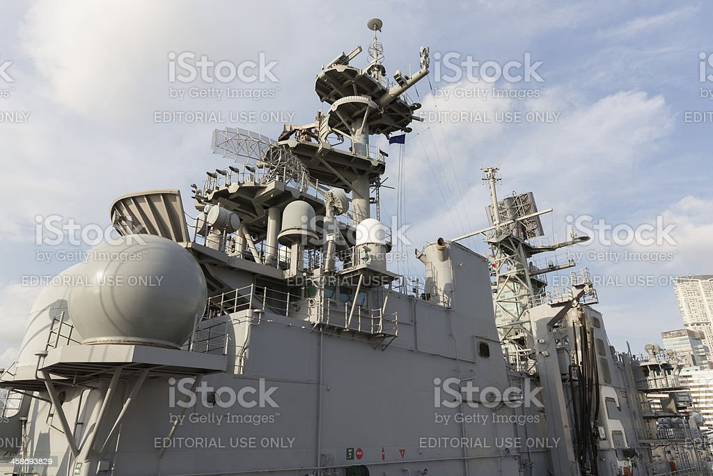 US Amphibious Assault Ship USS Bonhomme Richard (LHD-6) royalty-free stock photo