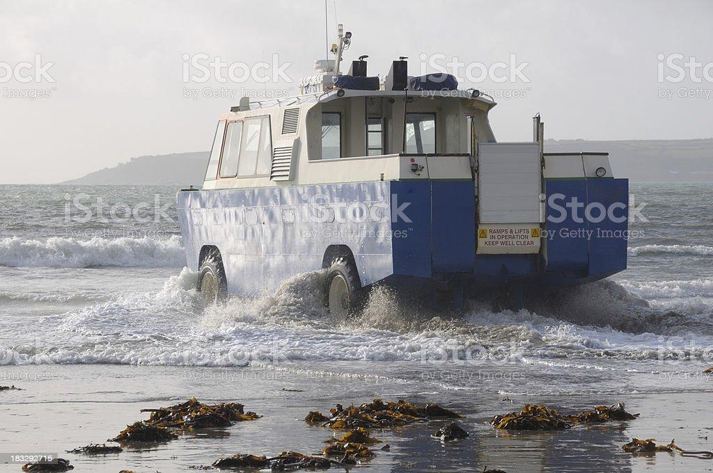 Amphibious vehicle stock photo