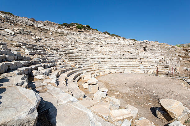 Amphitheate of Knidos; Datca, Mugla, Turkey stock photo