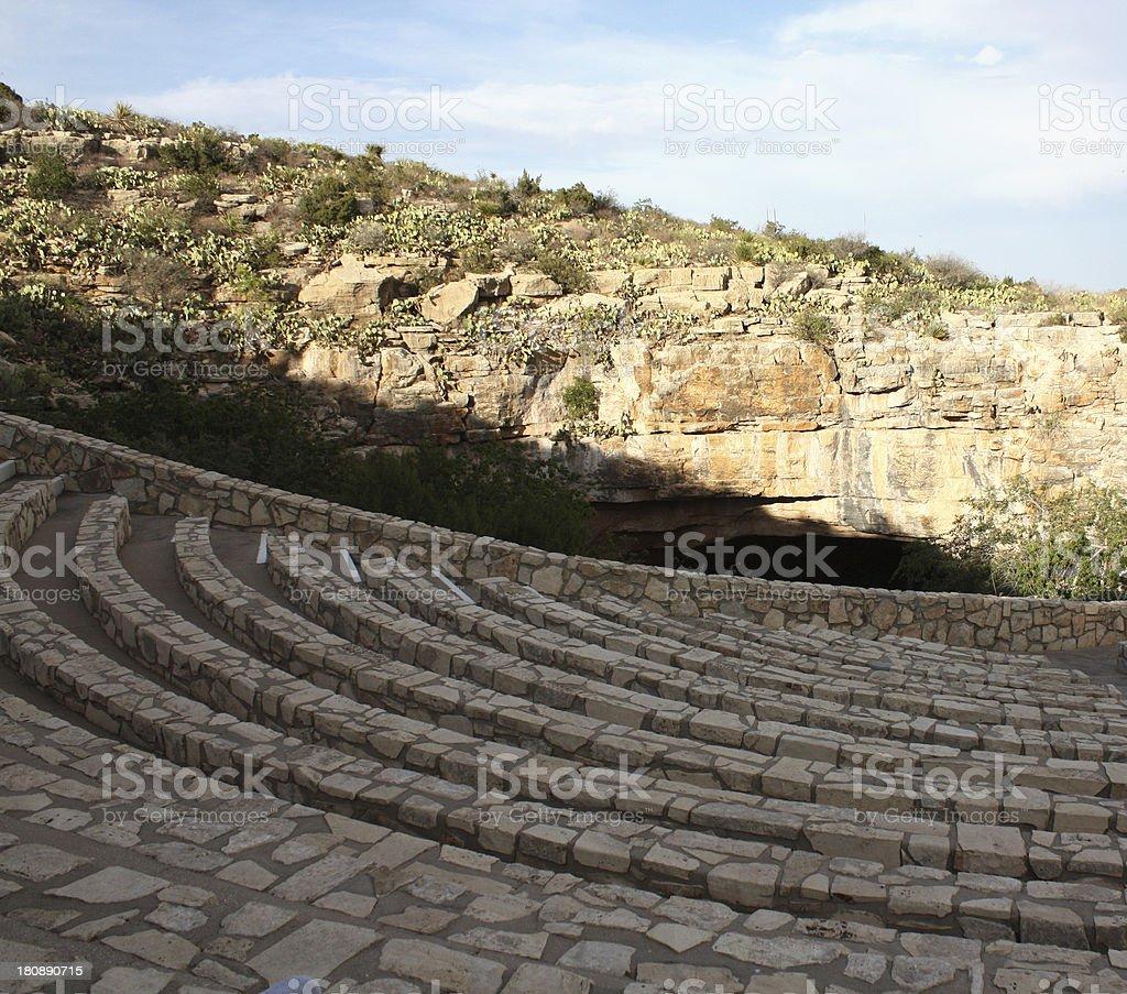 amphitheater among desert rocks royalty-free stock photo