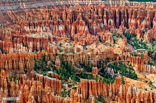 Amphitheater At Bryce Canyon National Park In Utah