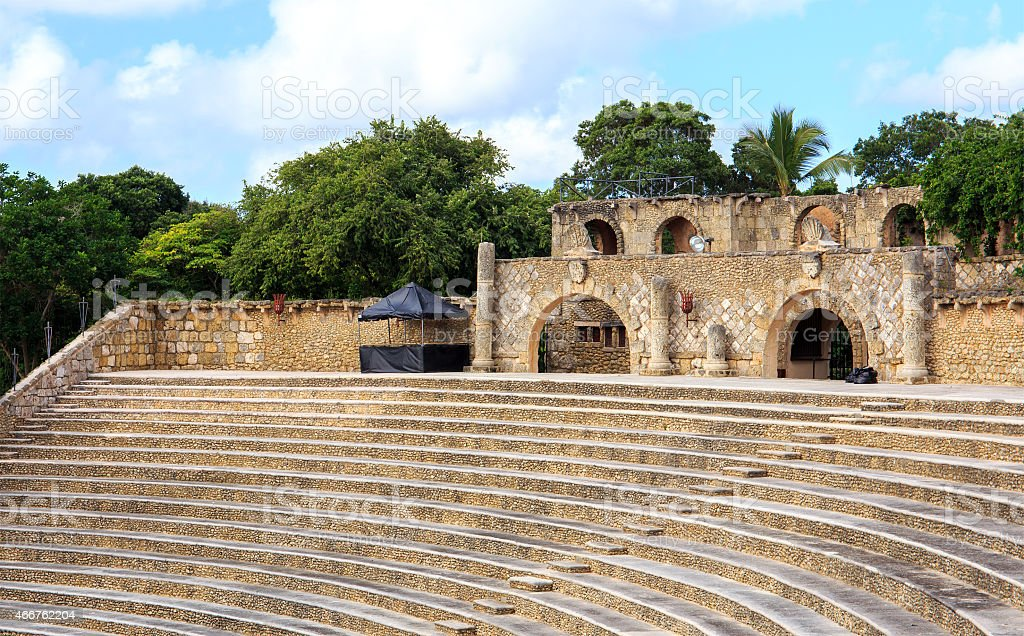 Casa de Campo amphitheater stock photo